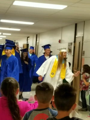 Members of the Carlsbad High School Class of 2016 and Monterrey Elementary alumni walked its halls on Tuesday.