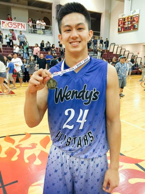 Team Elite's Aiden Ferrara was named the player of the game after the Wendy's High School Boys' All-Star Basketball game on Monday at the Father Duenas Phoenix Center.