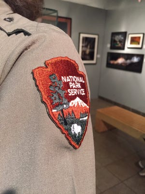 National Park Service rangers prepare Friday for the first family's visit to Carlsbad Caverns National Park.
