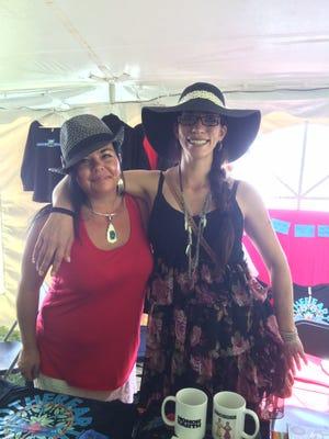 Honor The Earth representatives Sarah Kalmanson and Korey Northrup at the 27th annual Energy Fair.