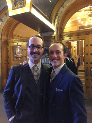 Fort Myers brothers Parker (right) and Blakely Slaybaugh are acting on Broadway now. They're both Cypress Lake High graduates.
