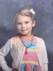Alayna Jeanne Ertl, age 5.