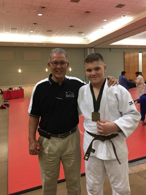 Rene Zeelenberg (left) with his trainee Christian Konoval (right) who will be competing at the U.S.A. Judo National Presidents Cup on Nov. 20 in Dallas.