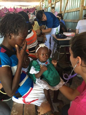 The Foundation for Peace's nursing mission serves Haitians in January 2016.