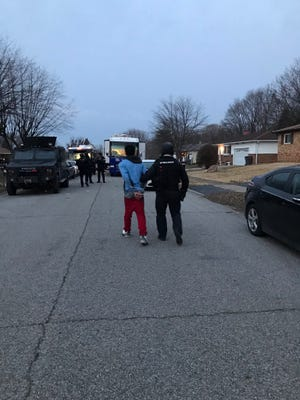 Metropolitan police arrested two juveniles Friday in connection with a fatal shooitng Thursday night on the south side.