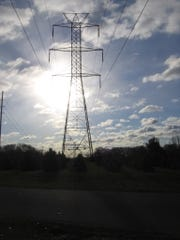 Power lines in Colts Neck.