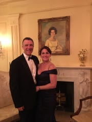 Gov. Phil Scott and his wife, Diana McTeague Scott, are pictured before the Governor's Ball at the National Governors Association winter meeting in February.