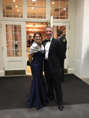 Gov. Phil Scott and his wife, Diana McTeague Scott, are pictured during National Governors Association winter meeting in February.