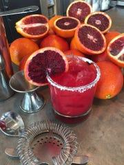 The Blood Orange-Jalapeno margarita at Avenue in Pier