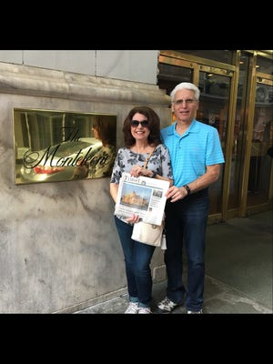 Joyce and Richard Napolitano, Paramus in front of the Monteleone Hotel near Bourbon Street.