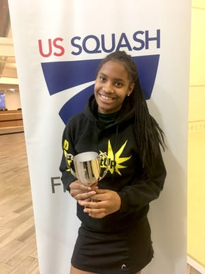 Antoinette Ramsey, a student in the Racquet Up Detroit education and youth development program, became a national squash champion Sunday, April 30, 2017 by winning the Bronze Junior National Championships in Stamford, Conn., hosted by U.S. Squash.