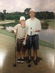 Robert Bechtol is pictured with his son Jackson at the Parent-Child Championship in Orlando in 2007.