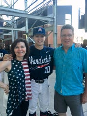 Vanderbilt baseball player Ethan Paul with mother Lael