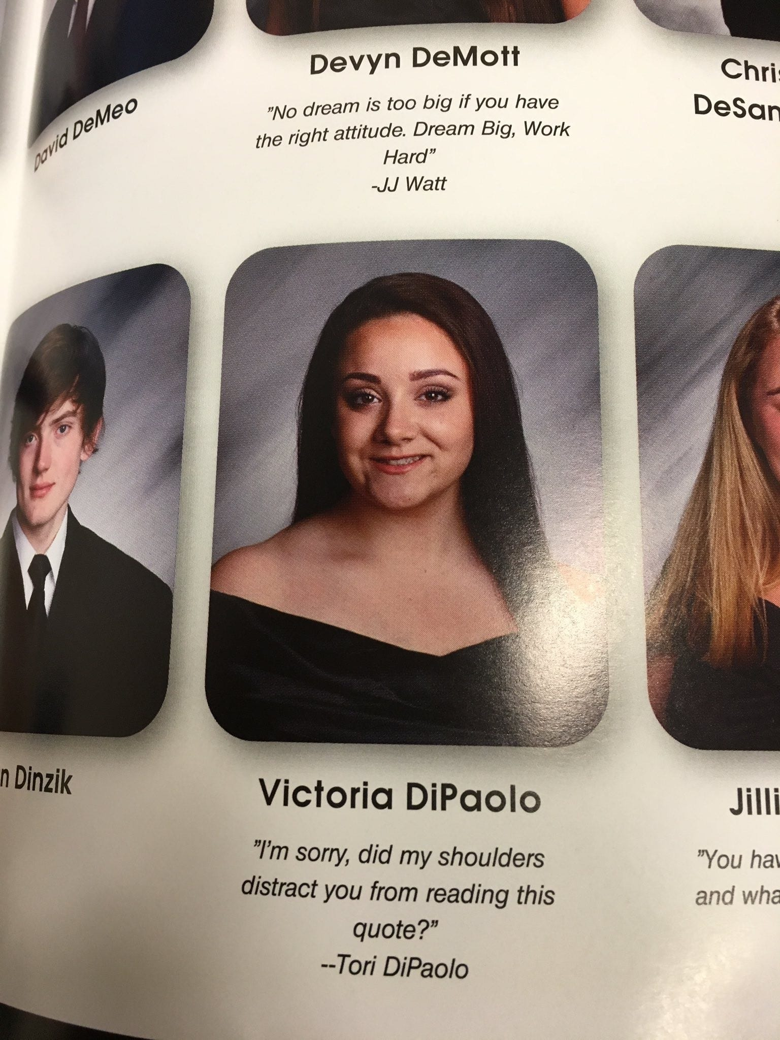 yearbook quote puts west milford senior in spotlight