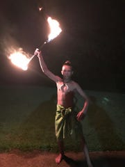 Ethan Davenport will perform the Samoan Fire Knife