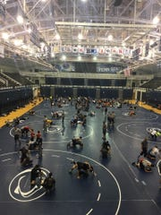Overview of Penn State University facility during the