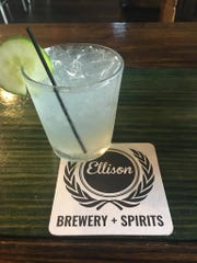 Ellison Brewery and Spirits' Green & Girthy cocktail.