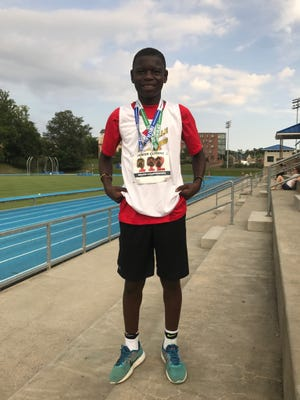 Zachary Meyer qualified for the USAT Junior Olympics National Championships in four events.