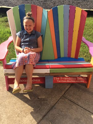 Mikaila Brewer thinks that students will like the new addition to their school's playground.