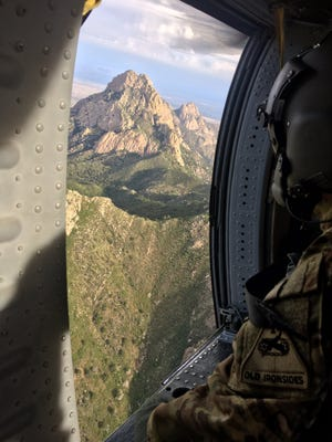 U.S. Secretary of the Interior Ryan Zinke tweeted this photo on Thursday, July 27, 2017, while thanking the 1st Armored Division out of Fort Bliss for the helicopter ride over the Organ Mountains.