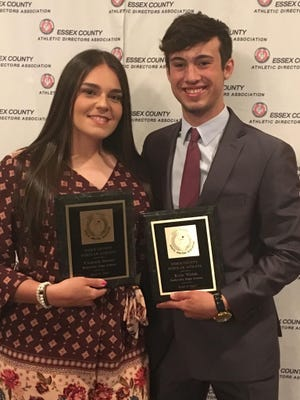 Victoria Bruno and Kyle Walsh were named Belleville High's outstanding scholar athletes by the Essex County Athletic Director's Association.
