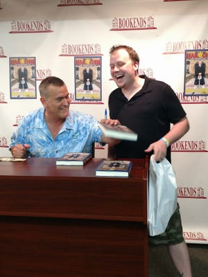 Bruce Campbell signing copies of his new book at Bookends in Ridgewood