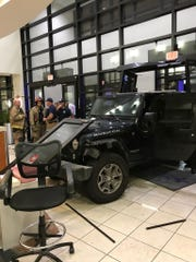 A man drove his vehicle into the Sacred Heart Emergency