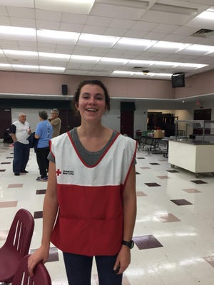 Anna Lucy Bridges volunteered at Chiles High School to help with sheltering Hurricane Irma evacuees.
