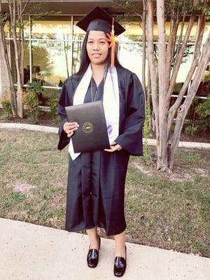 Special shout out and Congratulations to Marlyn Lewis all the way in Texas. She graduated from Vista College, a National Honor Society member, Associate of Applied Science in Computer Science Information Technology major. From your family in Guam, Maria Lewis (Mother) Arthur Lewis (Father) and Martha Lewis (Sister). We love and miss you so much, you rock girl!