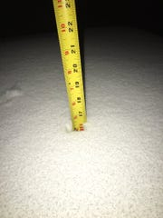 16 inches of snow was  measured in the backyard of