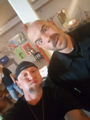 Local paranormal investigator David Childers and Ghost Adventures' Aaron Goodwin clown around during the Travel Channel's filming in Vicksburg in January.