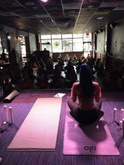 Yogis participated in the a Harry Potter-themed yoga