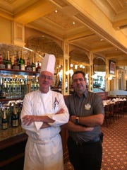 Chef Bruno Vrignon and operations director Eric Weistropher keep guests' tastebuds happy at Epcot's French Pavilion.