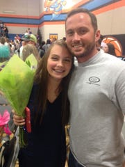 Andrew Crossett with his daughter Lily.