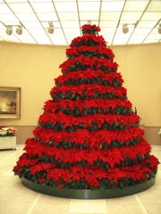 Norton Art Gallery's poinsettia tree in 2008.