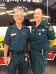 Paramedics Graeme Cooper and Danielle Kellan helped a terminally ill woman by taking her on a side trip so she could once more see Hervey Bay in Queensland, Australia.