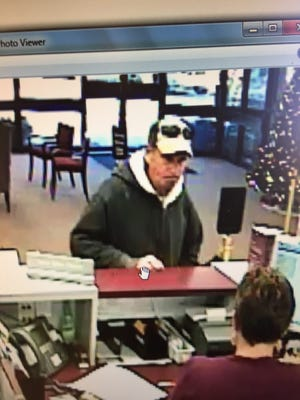 Suspect in BB&T bank robbery.