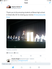 Meghan Markle visited Berea High School in 2012 as