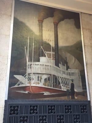"Dubuque - ""Early Mississippi Steamboat"" William E.L. Bunn"