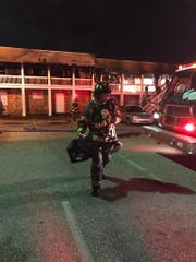 One person sustained minor injuries in a Wednesday night apartment complex fire.