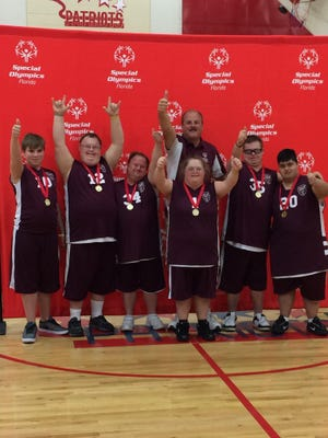 The Collier County Eagles won the Special Olympics state skills basketball tournament in Tavares on Saturday, February 3. The team, coached by Naples code enforcer and harbor master Roger Jacobsen, consists of Joshua McClellan, Kevin Kennedy, Dominique O'Connell, Jules Porath, Fernando Gonzales and Jeffery Wohlers.