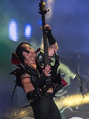 Jerry Only performing with the Original Misfits. He and Danzig set aside decades of acrimony to reunite in 2016.