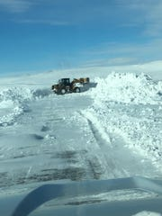 Plow operators are working around the clock to clear as much snow as possible