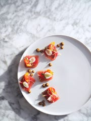 Tuna crudo from chef Ken McCorry at Branca Midtown.