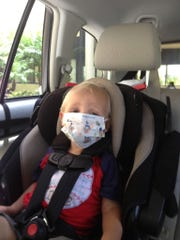 The family isolated Brody, pictured, from others when he was immune compromised, which helped keep him out of the hospital.