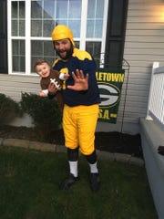 Ryan Messatzzia of Delmar, Del., and his 1-year-old