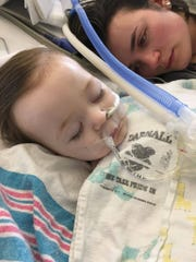 Ten-month-old Emma Medlin was diagnosed with a Stage