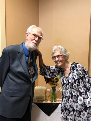 Bobby and Bonnie Barnett, at their 70th anniversary party.