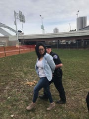 Mercedes Mike of Metro Justice being arrested Tuesday