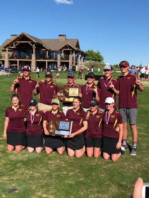 The Shelby boys won the Class B golf title on Wednesday in Billings, while the Coyote girls finished second.